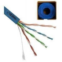 Cheap 4 Pairs UTP CAT5E Networking Cable , 0.50mm Solid Bare Copper Conductor LAN Cable wholesale