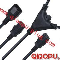 Cheap one to Two connectors,power cord,power cord three-way connector wholesale