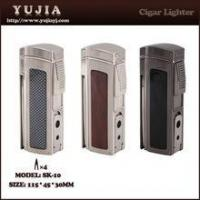 Cheap Best High-end Multi-fonction four flame cigar lighter with cigar cutter and punch wholesale