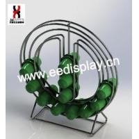Cheap Standing Round Shape Design K-cup Coffee Capsule holder/Double sided mental wire coffee rack wholesale