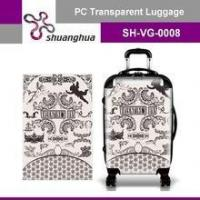 Cheap summer holiday&travelling transparent pc customized suitcase wholesale