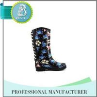 Cheap Newest Design Butterfly Print Rain rubber shoes snow grips wholesale