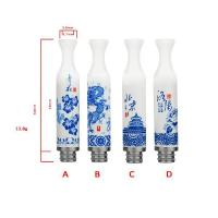 Cheap Ceramic Blue Porcelain drip tips wholesale