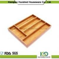 Cheap Wholesale Solid Bamboo Kitchen Cutlery Tray wholesale