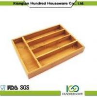 Cheap Cheap price 5 Divider Kitchen Drawer Bamboo Cutlery Tray wholesale