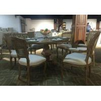 China French Style Wooden Antique Round oak wood Dining Table and chair Sets on sale