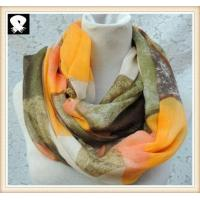 Cheap Scarf factory with the rhombus infinity scarves wholesale