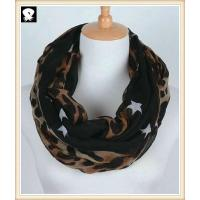 Cheap Stars and leopard scarf bespoke in scarf factory wholesale