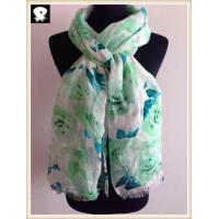 Cheap Blossom polyester scarf in china scarf factory wholesale