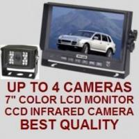 """Cheap 7"""" COLOR REAR VIEW BACKUP CAMERA SYSTEM - Digital Flat LCD and CCD Camera wholesale"""