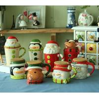Cheap novelty Christmas gifts mug,ceramic mug for Christmas day,500ml ceramic cup with lid---MM005 wholesale
