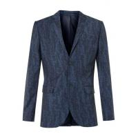 Cheap Blue Wool Blend Abstract Print Skinny Fit Suit Jacket wholesale