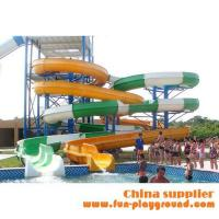 Cheap fiberglass spiral adult slides aqua theme park tubes equipment amusement rides price for sale wholesale