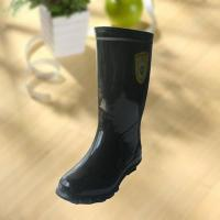 Cheap High quality black rubber safety working knee boot wholesale