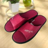 Cheap Rose red cool Imitation ox-tendon sole leather slipper wholesale