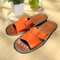 Cheap Comfortable cool leather slipper indoor/outdoor wholesale