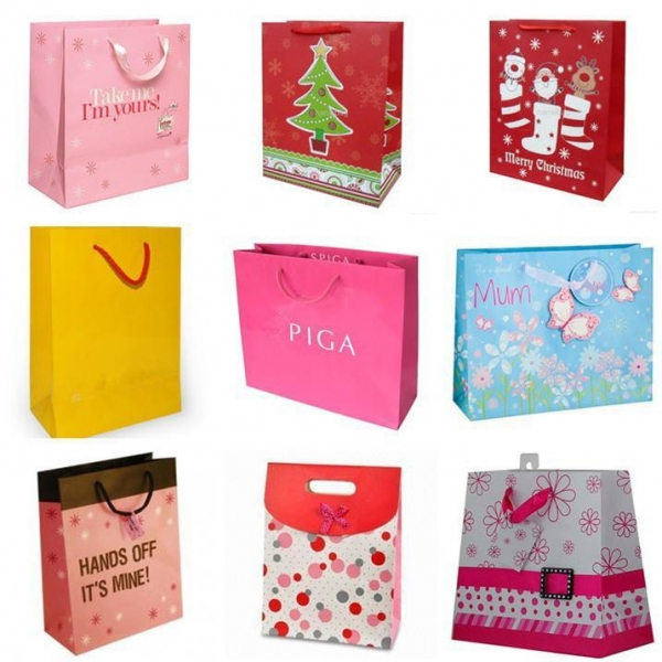 Custom paper services shopping bags
