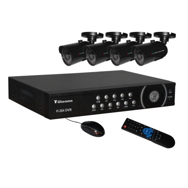 China 4 Infrared Outdoor Cameras and DVR Package
