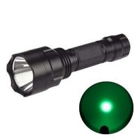 Buy cheap 250Lumen C8Q5 Professional LED Hunting Flashlight Green LED Torch Outdoor Lighting from wholesalers