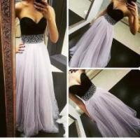 Fashion Women Sweetheart Sequins Evening Party Dress