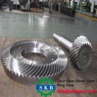 China CNC machine hobbing 38CrM mitre spiral bevel gear spur gear conical gear on sale