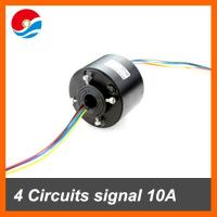 China Miniature generator motor used through bore slip ring 4 circuits/wires contact 12.7mm on sale