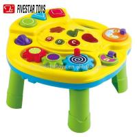 China New Battery Operated Laugh Learn Puppy Friends Learning baby musical table chair toy on sale