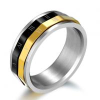 Cheap Jewelry Rings Gold Plated Titanium Steel Rings for Man wholesale