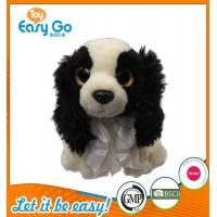 Cheap Customized OEM promotion gift plush dog with tie wholesale