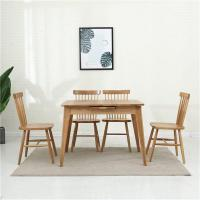 China Retractable folding solid wood dining table and chair combination Small apartment on sale
