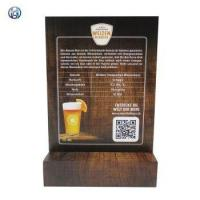 Cheap Table Top Menu Sign Holder With Wood Base wholesale