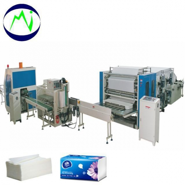 China Full Automatic V or N or M Fold Hand Towel Production Line