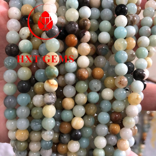 China Amazonite Multicolor AA 10mm Round Beads