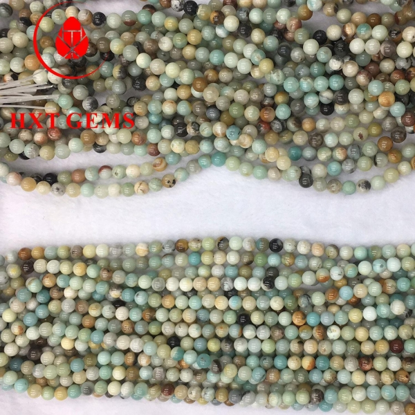 China Amazonite Multicolor A 12mm Round Beads